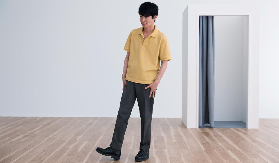 メンズの感動パンツ 軽い。伸びる。ここちいい。