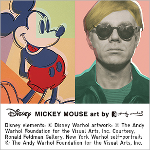 DISNEY MICKEY MOUSE art by ANDY WARHOL